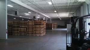 BDL Supply Florence, KY. Wood Pallets in Warehouse.