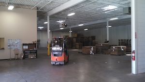 BDL Supply Florence, KY. Forklift in Packaging Warehouse.